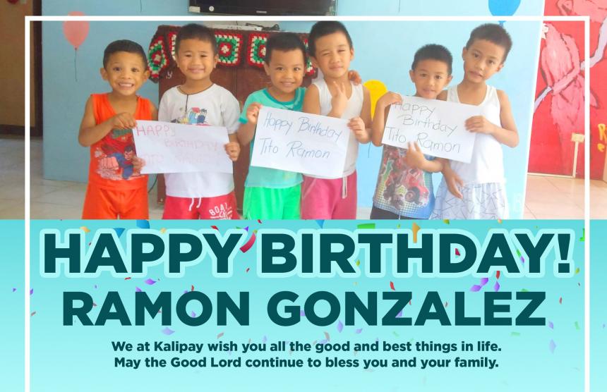 Happy Birthday, Ramon Gonzalez!