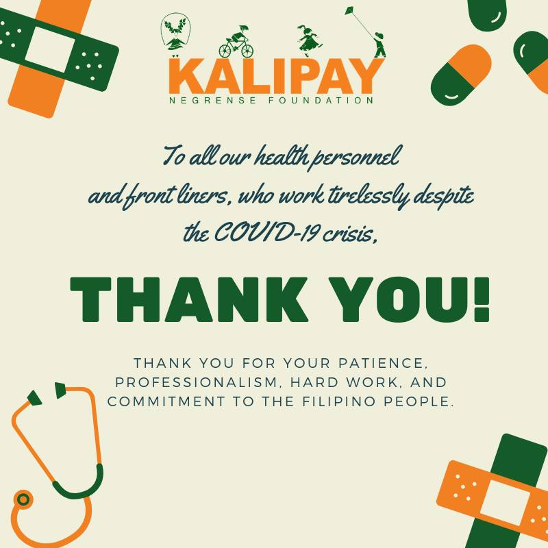 Kalipay Thanks COVID-19 Frontliners