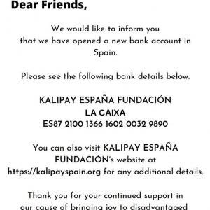 Kalipay's New Spanish Bank Account