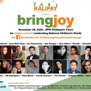 Kalipay to Hold BRINGJOY Concert