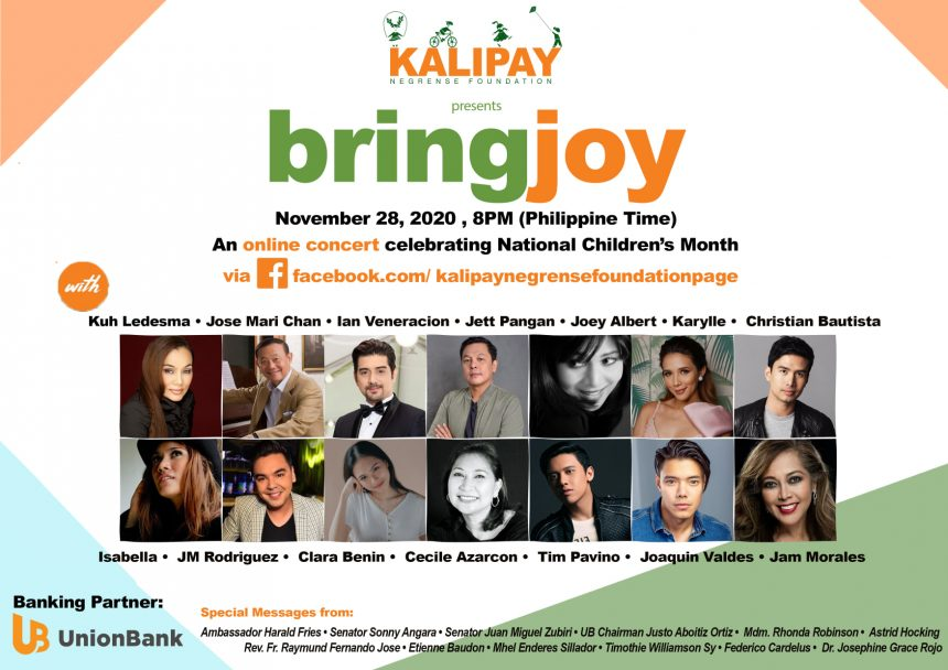 Kalipay to Hold BRINGJOY Concert