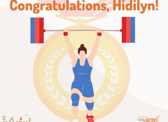 Congratulations, Hidilyn Diaz!